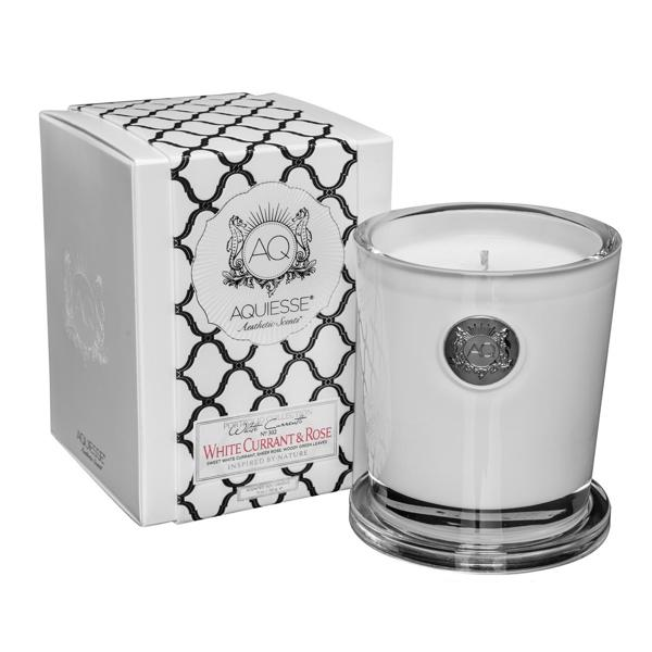 Aquiesse- White Currant & Rose Large Candle/Gift Box