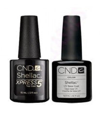 CND Creative Nail Design Shellac - Large Size Base & Xpress 5 Top