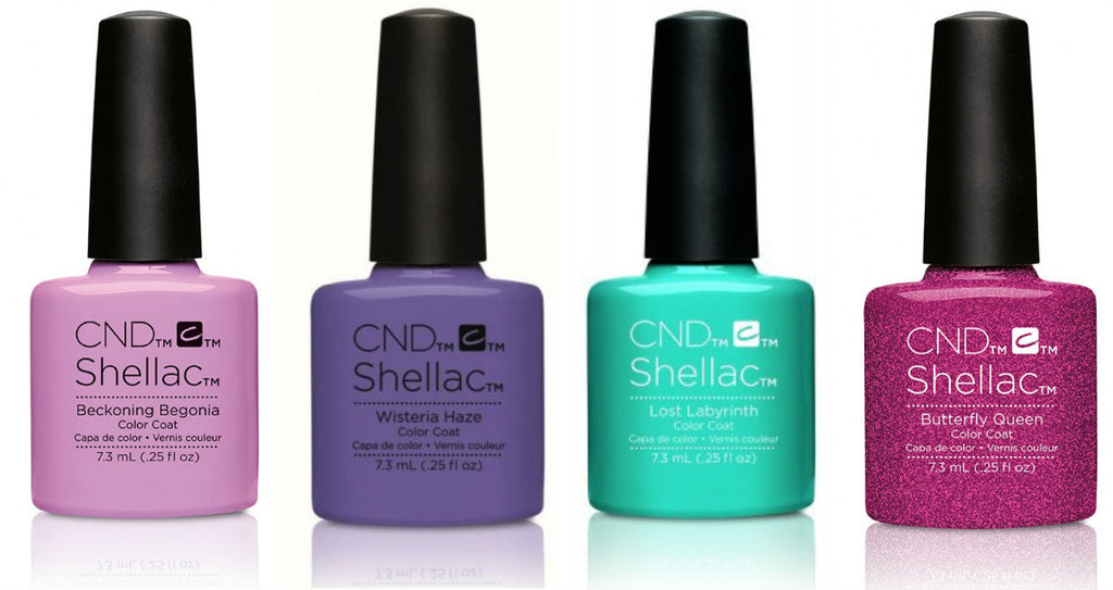 CND Creative Nail Design Shellac - Garden Muse Collection Set Of 4 - My Beauty Supply Center Inc.