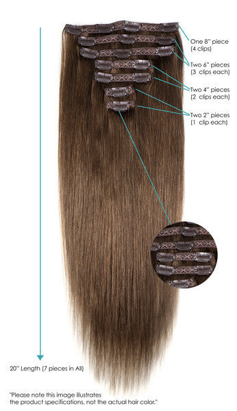 "Leyla Milani -  #1B Natural Black 20"" Clip In Hair Extensions - My Beauty Supply Center Inc."