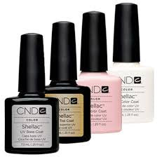 CND Creative Nail Design Shellac - French Manicure Base + Top + Negligee + Cream Puff - My Beauty Supply Center Inc.