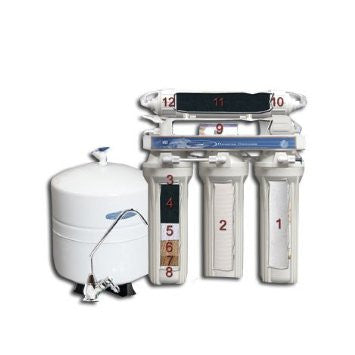 Crystal Quest CQE-RO-00101 - 12 Stage 50 GPD Reverse Osmosis Water Filtration System