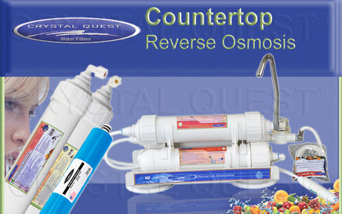 Crystal Quest CQE-CT-00142 Countertop Reverse Osmosis Water Filter System 50 GPD 10-stage