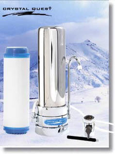 Crystal Quest CQE-CT-00112 - 6-stage 10,000 Gallon Countertop Replaceable Cartridge Water Filter System