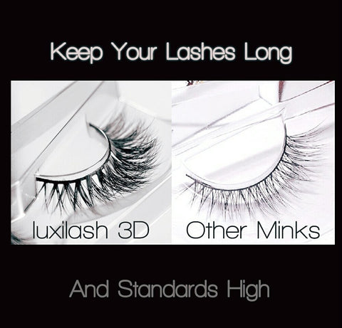 Luxilash 3d strip lashes compared to other strip lashes
