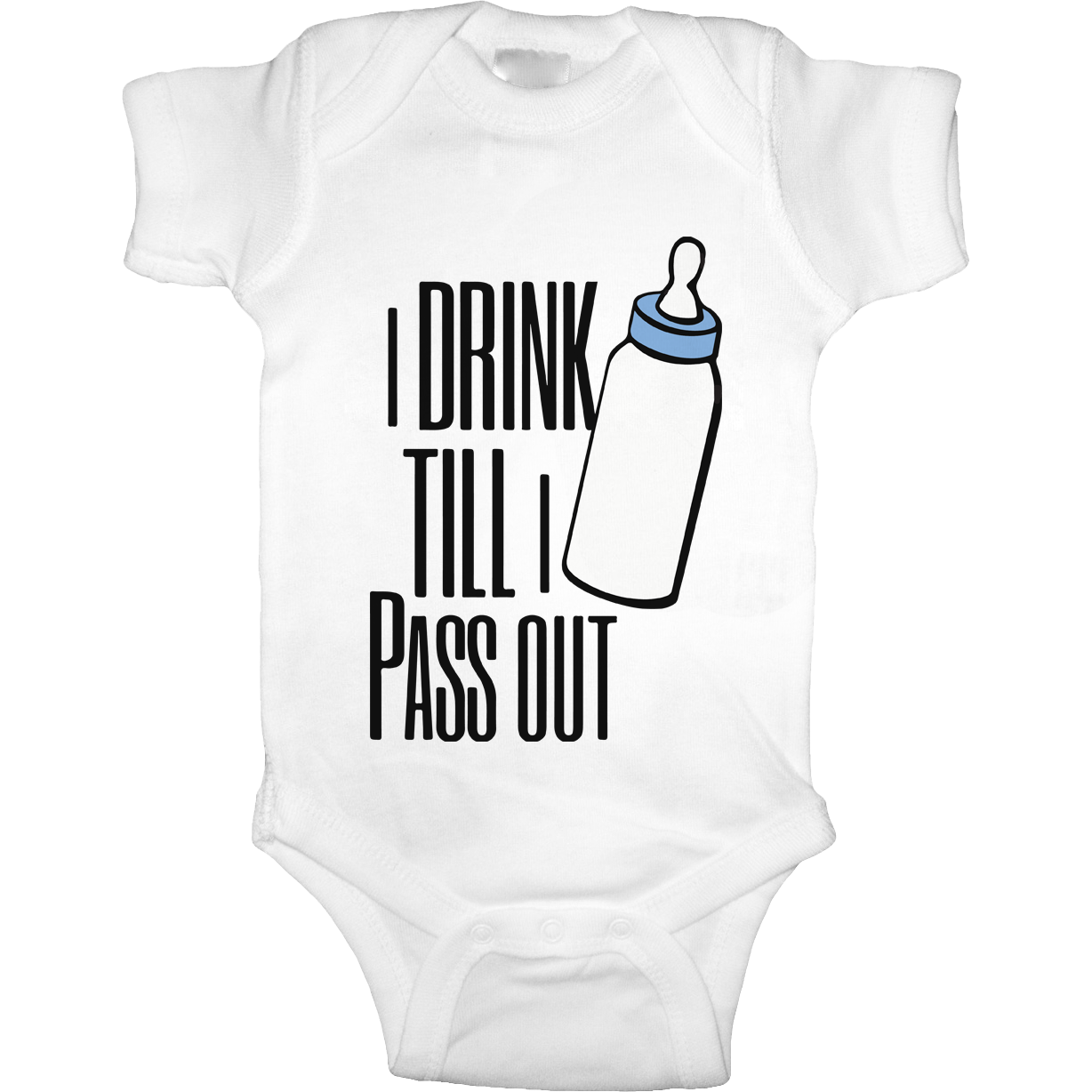 Drink Till I Pass Out Baby Onesie