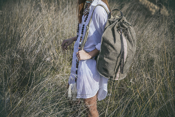 Oversized safari backpack
