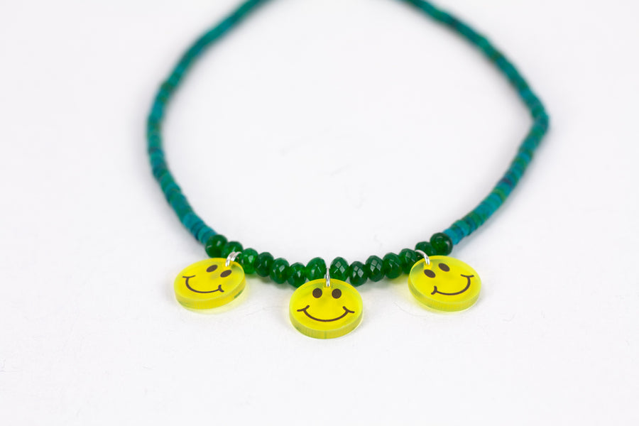Fay smiley necklace