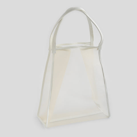 See through white shopping bag