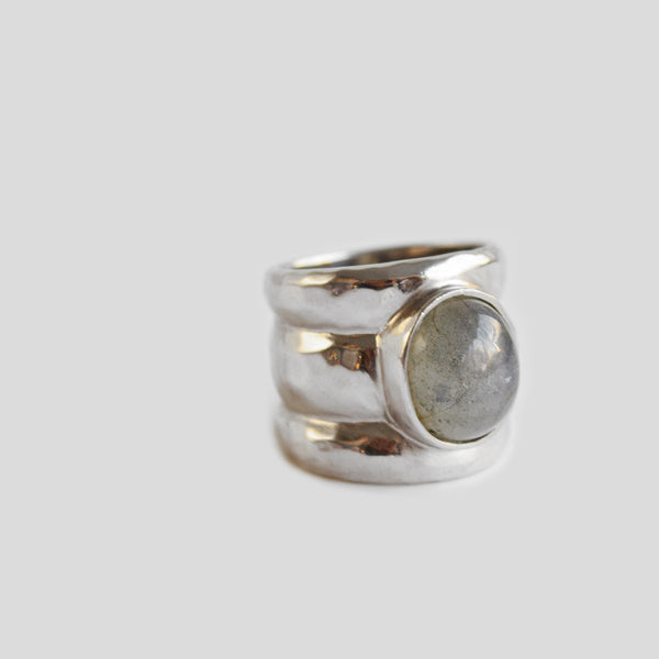 Triple silver ring