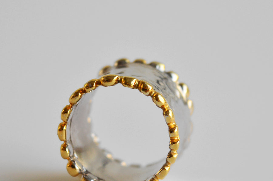 The Silver gold ring