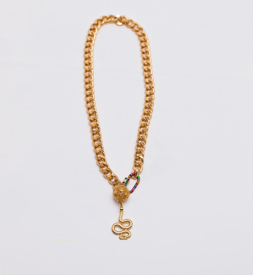 Chain snake necklace