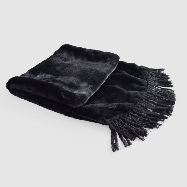 "The ""Black Beauty"" faux fur cover up"