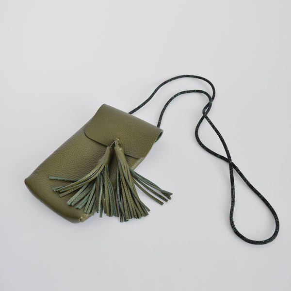 "The ""Hold me"" smartphone mini bag in olive green"