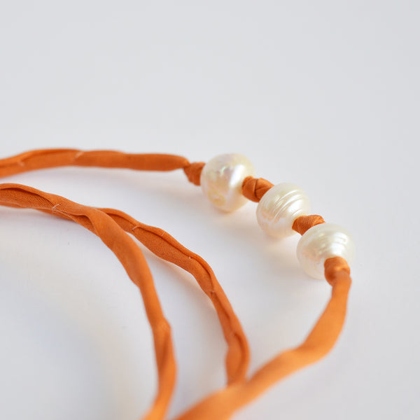 "The ""Silk Pearls""  in orange"