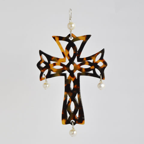 "The ""Temple Cross"" earrings"
