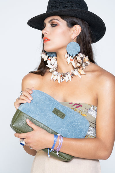 "The ""Forever"" Clutch Bag in light blue"