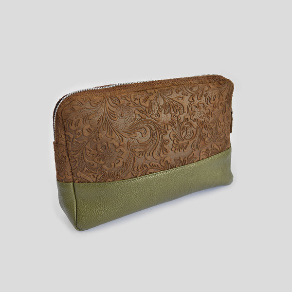 "The ""Forever"" Clutch Bag in brown"
