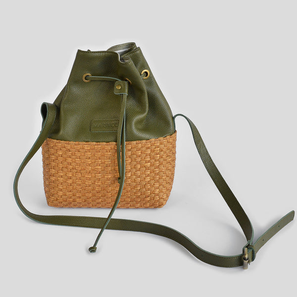 "The ""Parsons"" Pouch leather Bag in green"