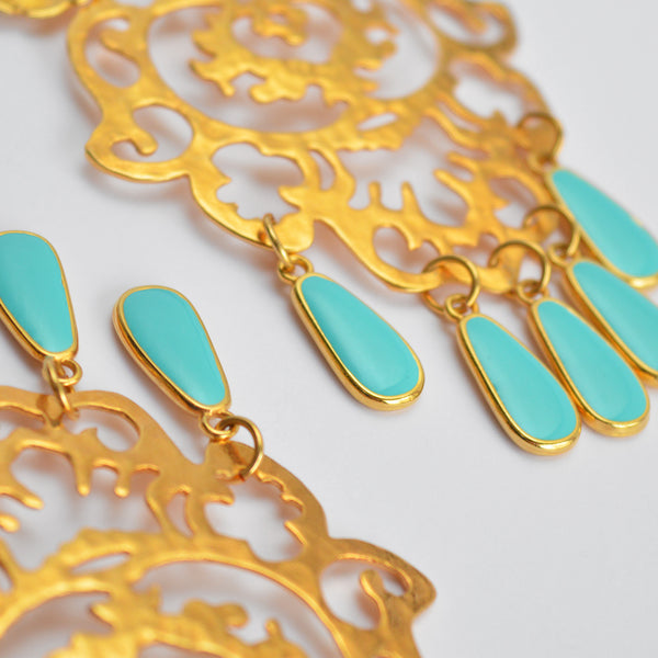 "The ""Mint your business"" earrings"
