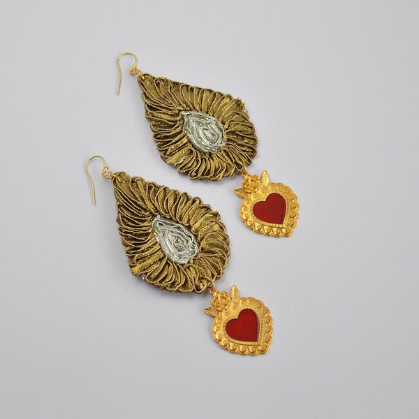 "The ""Leaf and let go"" earrings"