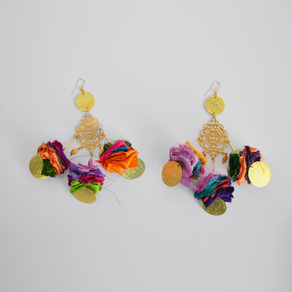 "The ""India twilight "" earrings"
