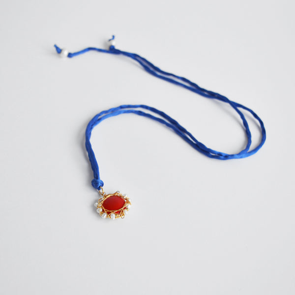 "The ""Red Jam"" silk Charm"