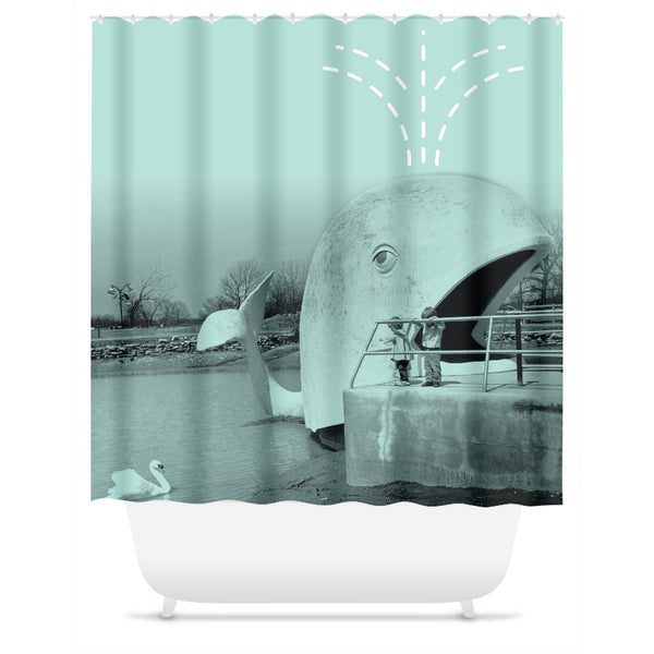 Willie the Whale Shower Curtain