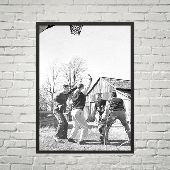 "RetroIndy Real ""Hoosiers"" At Play poster (18x24)"