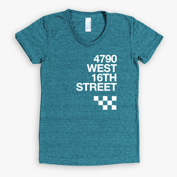 Speedway address T-shirt - Women's (Evergreen)