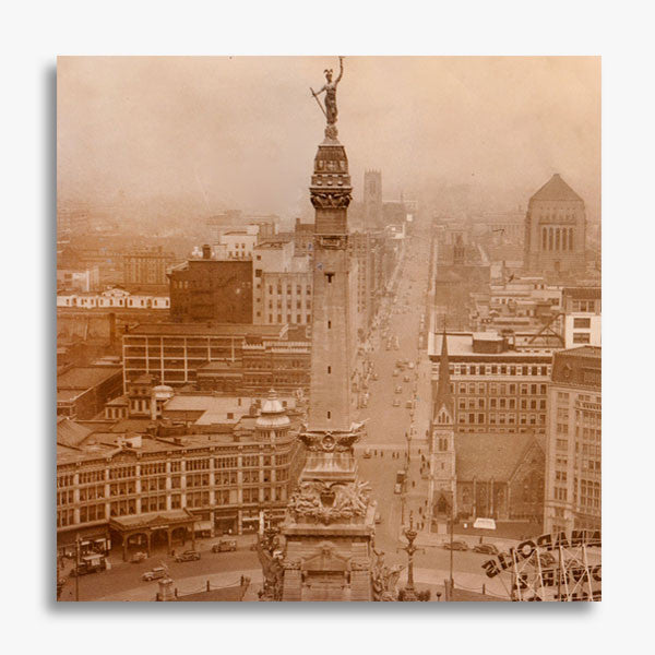 RetroIndy Monument Circle Canvas Print (16x16 and 12x12)
