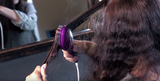 Static Free Heated Ceramic Straightening Hair Brush in Violet