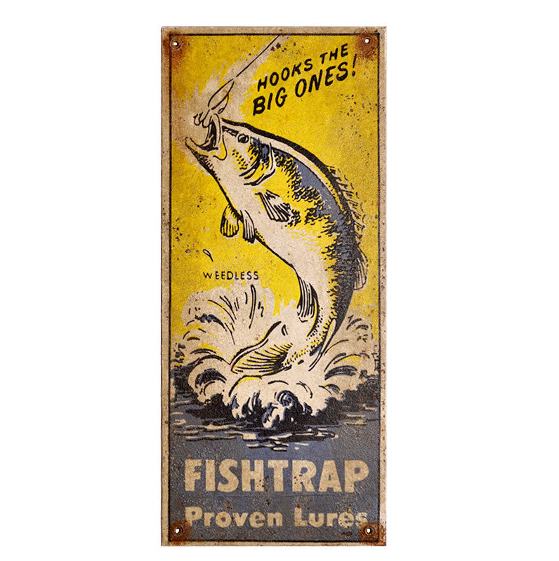Fishtrap Proven Lures Sign