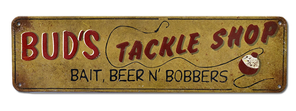 Bud's Tackle Shop Sign