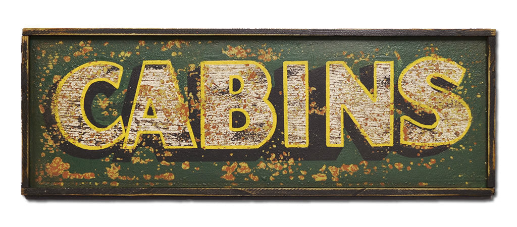 Cabins Sign
