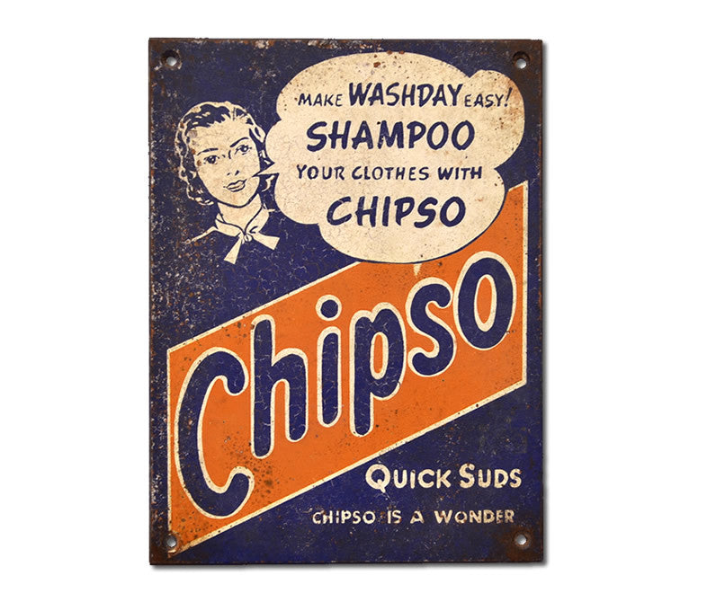 Chipso Quick Suds Laundry Soap Sign