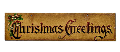 Christmas Greetings Sign