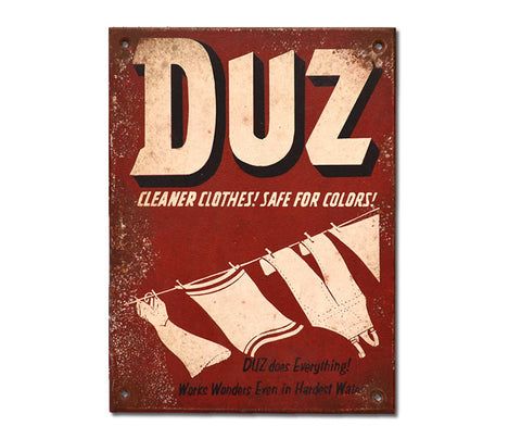 Duz Laundry Soap Sign