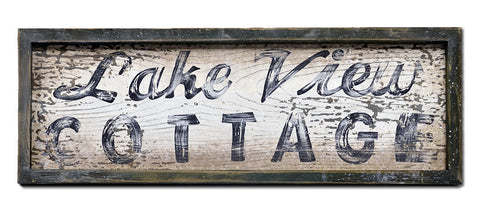Lake View Cottage Large Sign