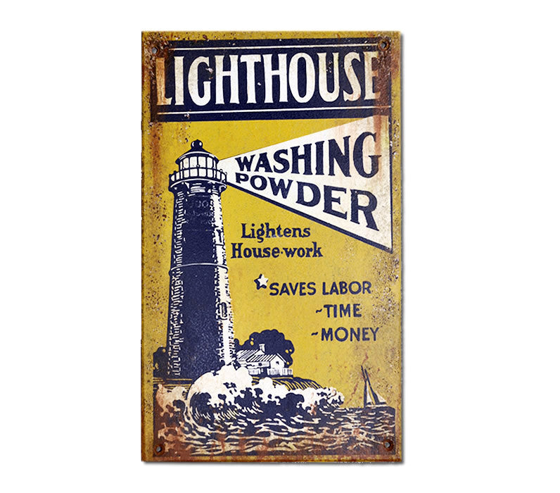 Lighthouse Washing Powder Sign