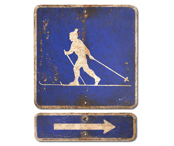 Cross Country Skier Right Arrow
