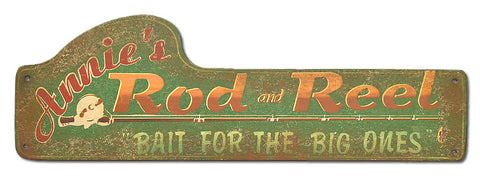 Annie's Rod & Reel Sign