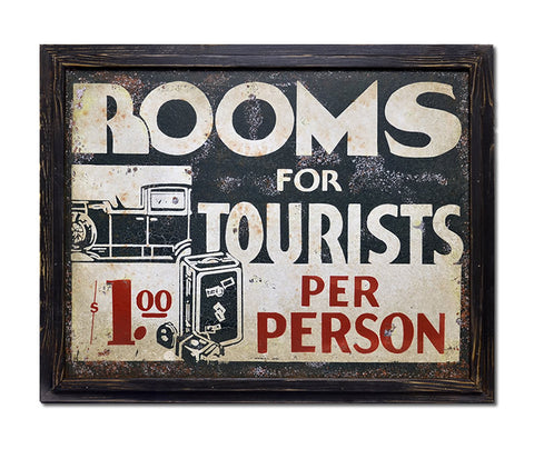 Rooms for Tourists Sign