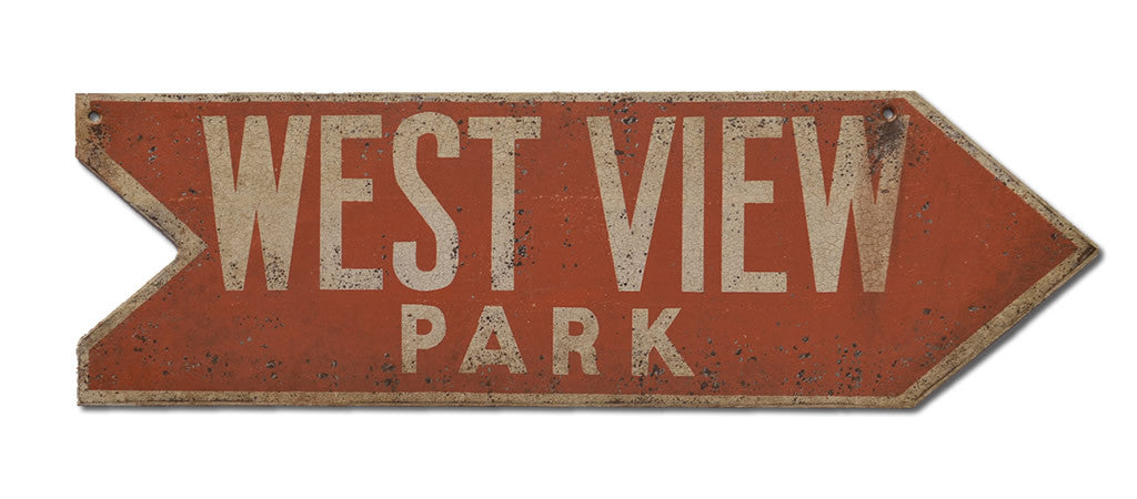 West View Park Arrow Sign