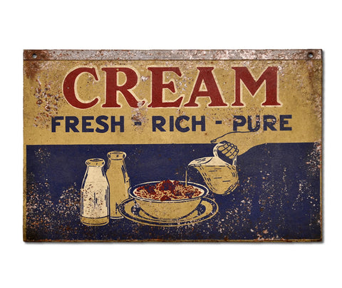 Cream - Fresh, Rich, Pure Sign