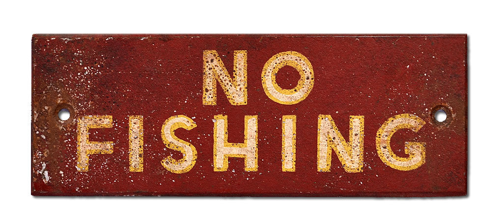 No Fishing Sign - RED