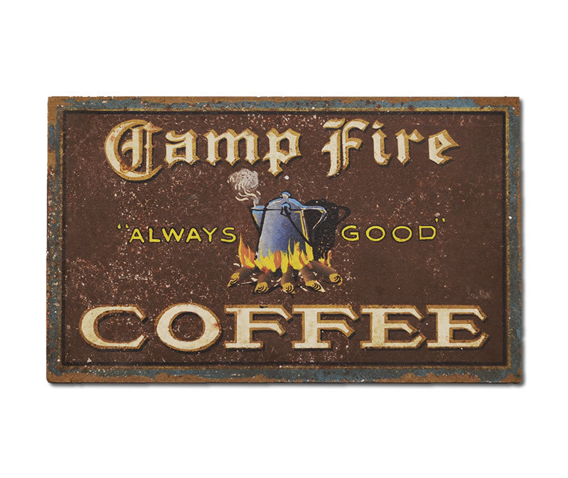 Campfire Coffee Sign