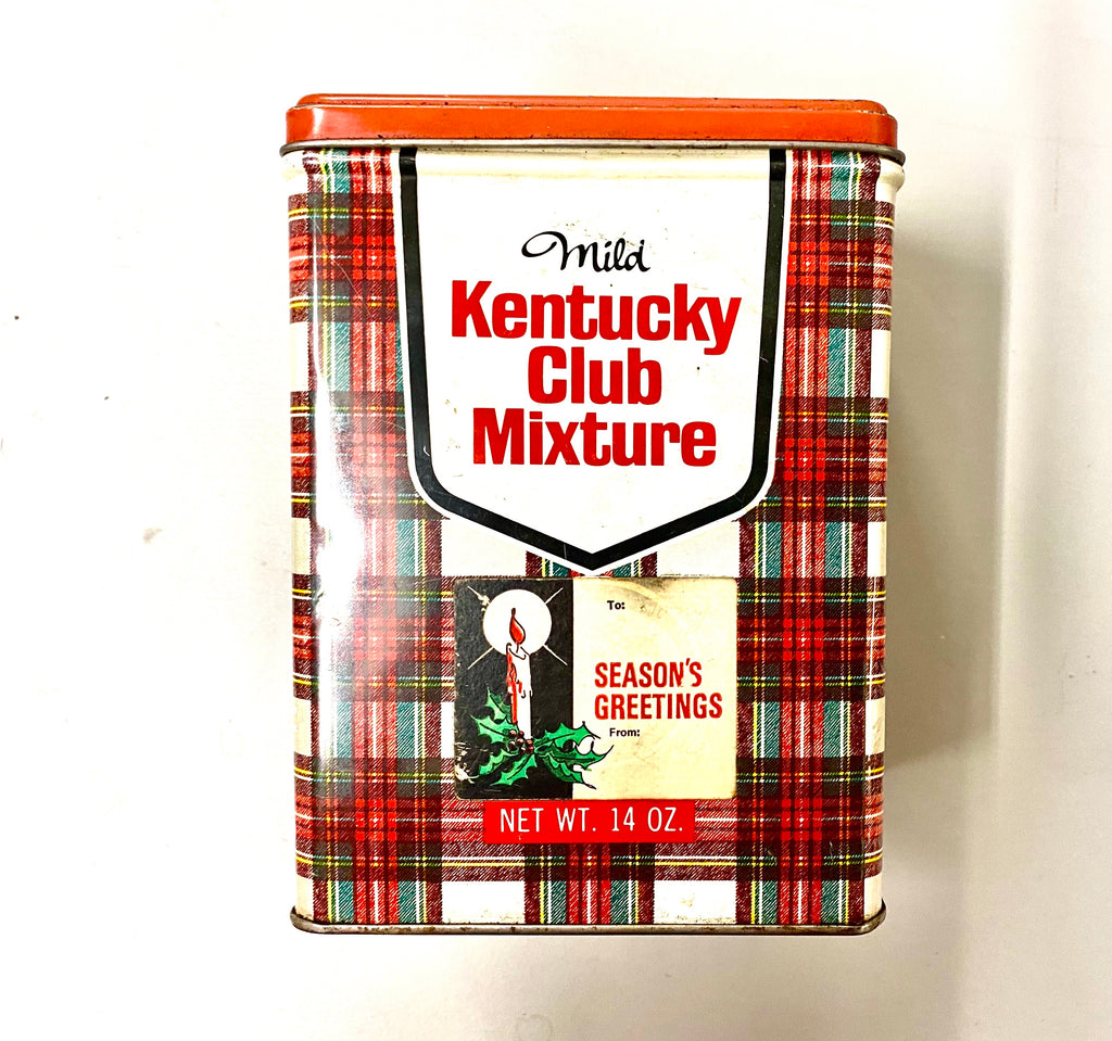 Vintage Kentucky Club Mixture Pipe Tobacco Tin