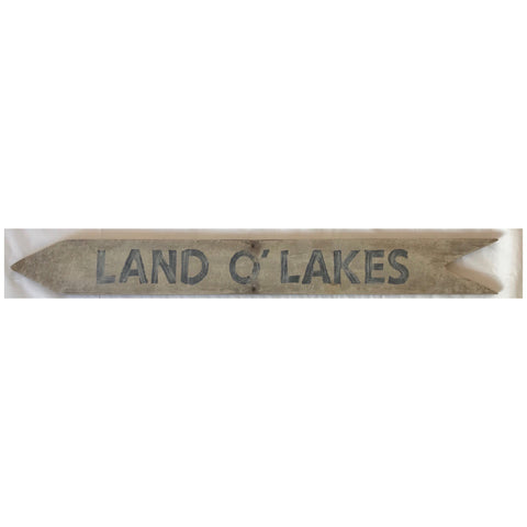 Land O' Lakes Arrow Sign