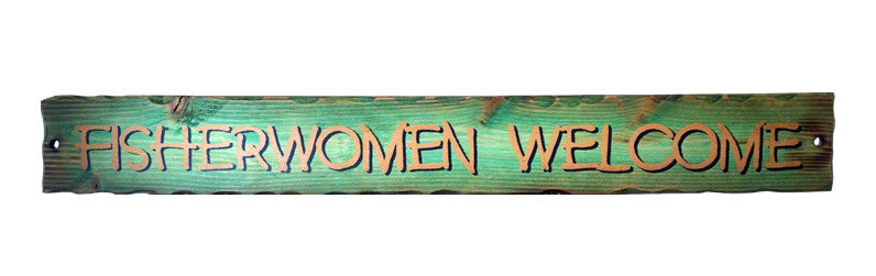 Fisherwomen Welcome Sign